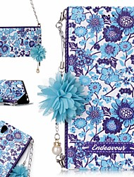 cheap -Case For Sony Sony Xperia L1 Card Holder / Shockproof / Flip Full Body Cases Flower Hard PU Leather