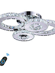 cheap -Flush Mount Lights Ambient Light Others Metal Crystal, LED 110-120V / 220-240V White / Dimmable With Remote Control / Wi-Fi Smart