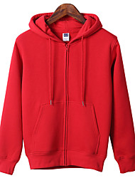 cheap -Women's Hoodie Winter Outdoor Breathable Top Cotton Single Slider Outdoor Exercise Black / White / Royal Blue / Red / Pink