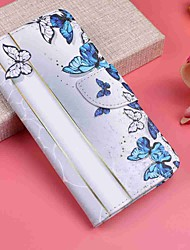 cheap -Case For Motorola MOTO G6 / Moto G6 Plus Wallet / Card Holder / with Stand Full Body Cases Butterfly Hard PU Leather