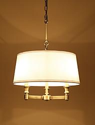abordables -JLYLITE 3 lumières Mini Lustre Lumière d'ambiance Plaqué Métal Tissu Style mini 110-120V / 220-240V