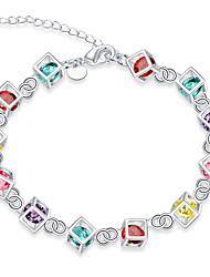 cheap -Chain Bracelet Party Brass Bracelet Jewelry Rainbow For
