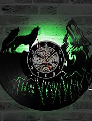 cheap -Hollow Wolf Model Vinyl Record Clock