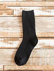 abordables -3 paires Femme Chaussettes Couleur Pleine Soulage l'Anxiété Coton EU36-EU42