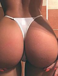 cheap -Women's Backless / Basic G-strings & Thongs Panties Low Waist Black White S M L