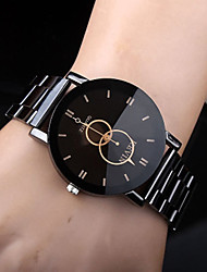 cheap -Men's Dress Watch Quartz Stainless Steel Black Casual Watch Analog Casual Fashion fancy Simple watch - Black