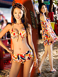 cheap -SANQI Women's Two Piece Swimsuit Neoprene Swimwear Quick Dry Sleeveless 3-Piece - Swimming Water Sports Patchwork Summer