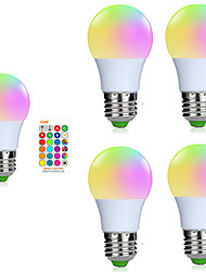 cheap -5pcs A50 3W 200-250LM RGB E27 LED Bulb LED Lamp 16 Color 24 key IR Remote Control Chandelier for Living Room Dimmable AC85-265V