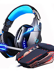 cheap -LITBest Gaming Headset Wired No Sound activated LED lights Noise-isolating HIFI Gaming