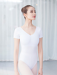 cheap -Ballet Leotards Women's Training / Performance Cotton / Elastane / Vicose Ruching Short Sleeve Leotard / Onesie