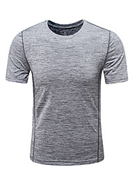 cheap -DZRZVD® Men's Hiking Tee shirt Short Sleeve Outdoor Breathable Quick Dry Fast Dry Sweat-Wicking Tee / T-shirt Top Spring Summer POLY Elastane Crew Neck Running Camping / Hiking Exercise & Fitness