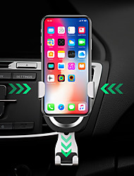 cheap -2 in 1 Gravity Auto Lock Car Air Vent 7.5W Fast Wireless Car Charger For Qi Enabled Cellphone Devices