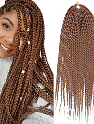 cheap -Crochet Hair Braids Dreadlocks / Faux Locs Synthetic Extentions Straight Box Braids Black 100% kanekalon hair 24 inch Braiding Hair 20 Roots / Pack / The hair length in the picture is 24inch.