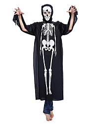 cheap -Skeleton / Skull Cosplay Costume Halloween Mask Adults' Men's Outfits Halloween Halloween Masquerade Festival / Holiday Polyster Black Men's Women's Carnival Costumes Printing / Leotard / Onesie