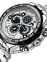 cheap -Men's Sport Watch Automatic self-winding Silver Creative LCD Casual Watch Analog Casual Fashion - White Black Blue