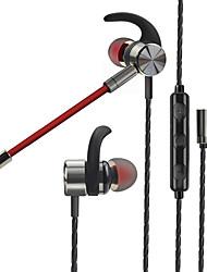 Недорогие -LITBest Наушники-вкладыши Проводное Стерео С микрофоном С регулятором громкости удобный Мобильный телефон