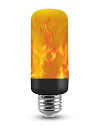 Недорогие -1шт 3 W Круглые LED лампы 150 lm E26 / E27 T 40 Светодиодные бусины SMD 2835 Новогоднее украшение для свадьбы Пламя мерцания 3D Фейерверк Теплый Желтый 85-265 V / RoHs / FCC