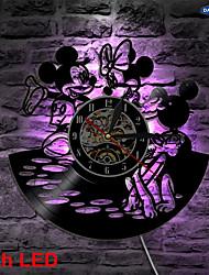 Недорогие -Микки и Минни Лидер дизайна виниловые настенные часы
