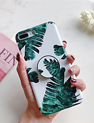 cheap -Case For Apple iPhone XS / iPhone XR / iPhone XS Max with Stand / Ultra-thin / Pattern Back Cover Plants Soft TPU
