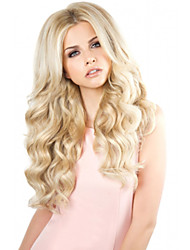 cheap -Synthetic Wig Body Wave Middle Part Wig Blonde Long Light Blonde Synthetic Hair 24INCH Women's Odor Free Adjustable Heat Resistant Blonde