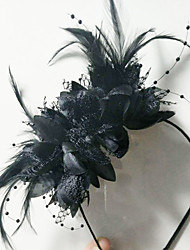 cheap -Fabrics / Alloy Headbands with Feather / Flower 1 Piece Special Occasion / Daily Wear Headpiece