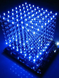 cheap -3d led cube 8x8x8 light new items PCB Board novelty news Blue Squared DIY Kit 3mm Dropshipping 2018 drop ship