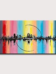 abordables -Peinture à l'huile Hang-peint Peint à la main - Abstrait Paysage Classique Moderne Sans cadre intérieur