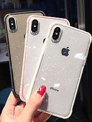 cheap -Phone Case For Apple Back Cover iPhone 12 Pro Max 11 SE 2020 X XR XS Max 8 7 6 Shockproof Translucent Glitter Shine Soft TPU
