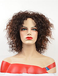 cheap -Synthetic Wig Curly Asymmetrical Wig Short Medium Auburn Synthetic Hair 12 inch Women's Party Brown