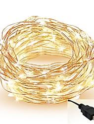 Недорогие -5 метров Гирлянды 50 светодиоды SMD 0603 Тёплый белый / Белый / Красный Можно резать / Для вечеринок / Декоративная 5 V / IP65