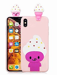 cheap -Case For Apple iPhone XS / iPhone XR / iPhone XS Max Pattern Back Cover Cartoon / Ice Cream Soft TPU