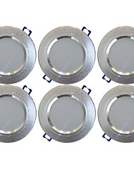 cheap -YouOKLight 6pcs 5 W 400 lm 10 LED Beads Recessed LED Downlights Warm White 85-265 V Home / Office / RoHS / FCC
