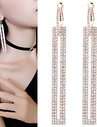 cheap -Women's Drop Earrings Long bridesmaid Imitation Diamond Earrings Jewelry Gold / Silver For Wedding Engagement Going out Valentine Bar 1 Pair