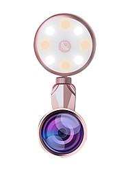 cheap -BRELONG LED Selfie Flash Light Beauty Artifact 9 levels Fill light adjustment with Fisheye Lens Wide Angle Lens Macro Lens 1 pc