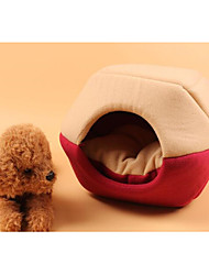 cheap -Dog Cat Bed Tent Cave Bed Pet House Fashion Portable Folding Plush Fabric 55*44*38 cm