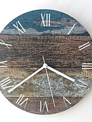 cheap -Wall Clock Diy Wood Acrylic Modern European Round Mute For Living Room Bedroom