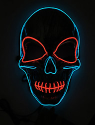 cheap -LED Mask Halloween Mask Inspired by Skeleton / Skull Scary Movie Green Red Halloween Halloween Masquerade Adults' Men's