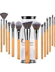 cheap -Professional Makeup Brushes 18pcs Soft Full Coverage Synthetic Artificial Fibre Brush Bamboo for Eyeliner Brush Blush Brush Foundation Brush Makeup Brush Lip Brush Lash Brush Eyebrow Brush Eyeshadow