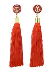 cheap -Women's Drop Earrings Tassel Stylish Ethnic Earrings Jewelry Green / Blue / Light Blue For Daily Date 1 Pair