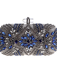 cheap -Women's Bags Acrylic Alloy Evening Bag Buttons Crystals Party Event / Party Daily Evening Bag Wedding Bags Handbags Silver