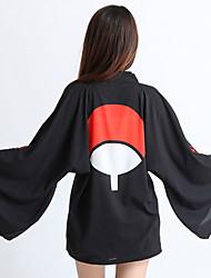 abordables -Inspiré par Naruto Itachi Uchiha / Sasuke Uchiha / Cookie Anime Manga Costumes de Cosplay Japonais Cosplay Hauts / Bas Animé Manches Longues Manteau Pour Unisexe / Mousseline de soie / Un peignoir