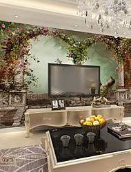 cheap -Wallpaper / Mural Canvas Wall Covering - Adhesive required Floral / Art Deco / 3D