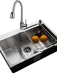 cheap -Kitchen Sink- 304 Stainless Steel Rectangular Undermount Single Bowl