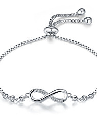 cheap -Women's Cubic Zirconia Bracelet Infinity Simple European Fashion Alloy Bracelet Jewelry Gold / Silver For Daily Work