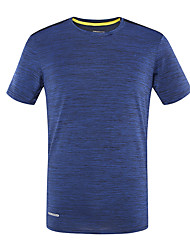 cheap -DZRZVD® Men's Hiking Tee shirt Short Sleeve Outdoor Breathable Quick Dry Fast Dry Sweat-Wicking Tee / T-shirt Top Spring Summer POLY Chinlon Crew Neck Running Camping / Hiking Exercise & Fitness Blue