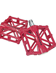 cheap -Mountain Bike Pedals Flat & Platform Pedals Sealed Bearing Anti-Slip Durable 2 Bearing Aluminium for Cycling Bicycle Road Bike Mountain Bike MTB Recreational Cycling Red