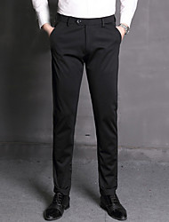 abordables -Homme Basique Costume Pantalon - Couleur Pleine Noir Bleu Marine 34 36 38