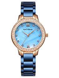 cheap -Women's Dress Watch Quartz Stainless Steel White / Blue / Gold Water Resistant / Waterproof Analog Casual Fashion - Blue Golden Rose Gold