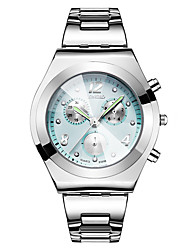 cheap -Women's Sport Watch Dress Watch Wrist Watch Quartz Stainless Steel Silver 30 m Creative Cool Word / Phrase Analog Fashion Elegant - Black Blue Pink One Year Battery Life
