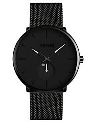 cheap -SKMEI Men's Dress Watch Wrist Watch Quartz Minimalist Water Resistant / Waterproof Analog White Red Blue / One Year / Stainless Steel